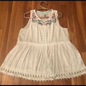 Knox Rose xxl sleeveless boho style blouse